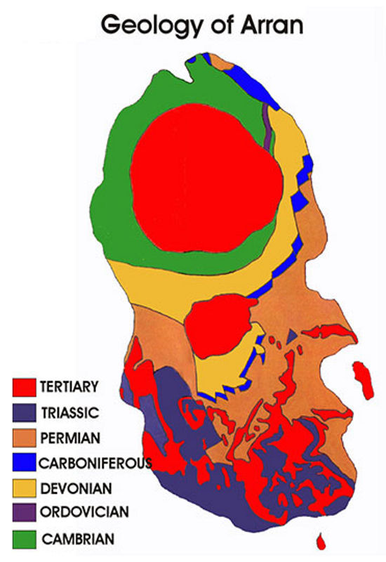 Map Isle of Arran geology