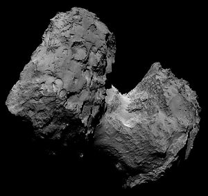 asteroid craters surface comet 67p