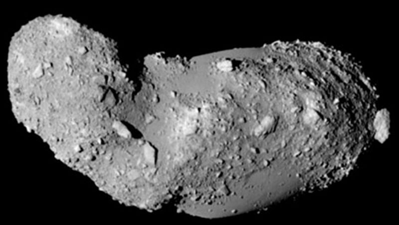 asteroid itokawa comet rocky surface