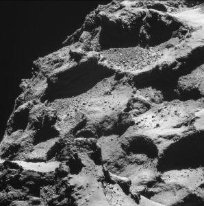 asteroids comets regolith layer 67p