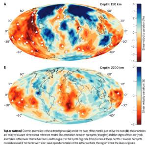asthenosphere magma volcano hot spot plumes