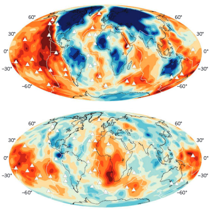 asthenosphere magma volcano hot spot plumes feature