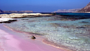 puprle coloured beaches sandy why origin source geology