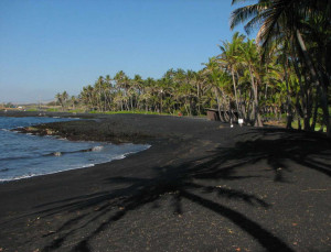 black coloured beaches sandy why source origin from geological