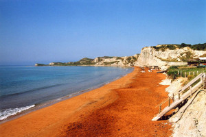 orange coloured beaches sandy where location