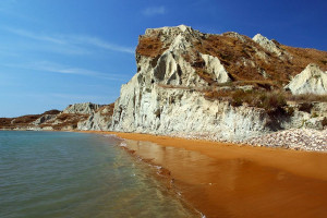 orange coloured beaches sandy source origin