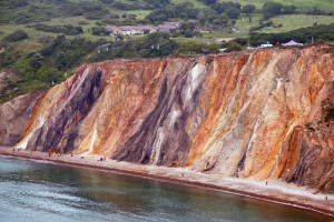 beaches coloured sand uk england europe