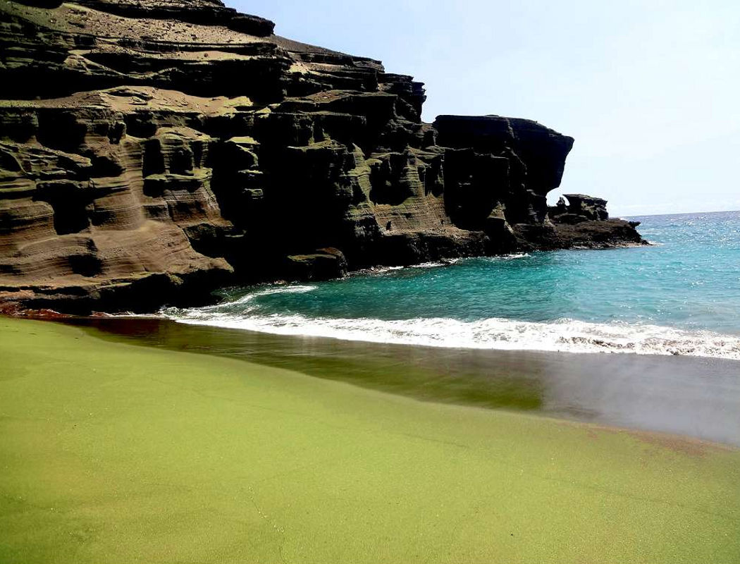 green coloured beaches sandy how source