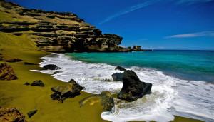 green coloured beaches sandy where origin