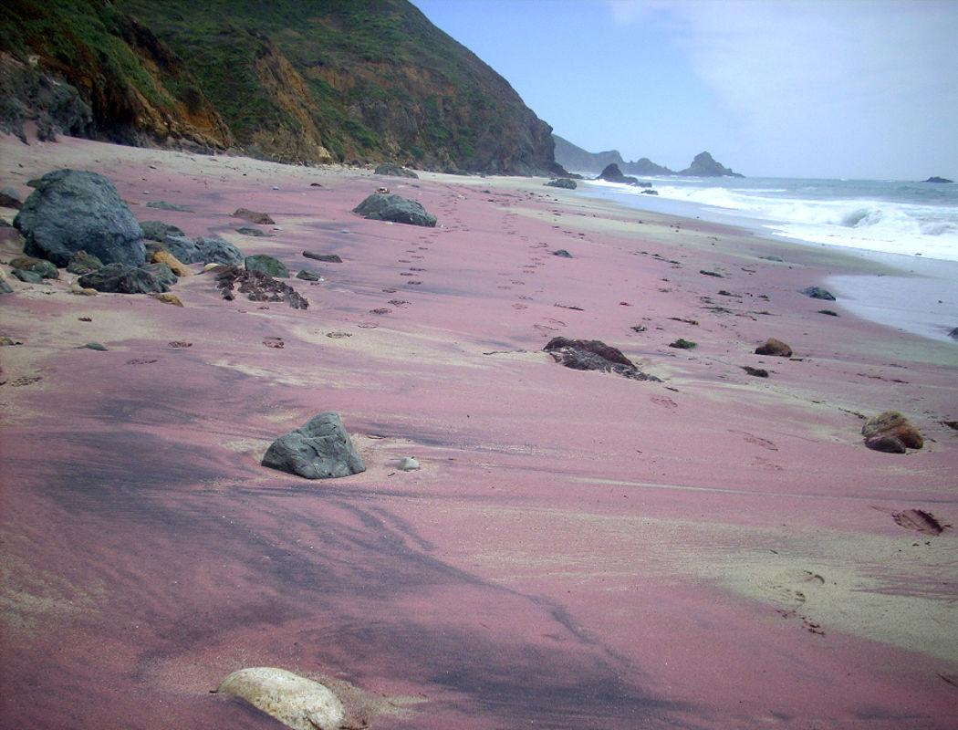 Purple Pfeiffer Beach California Puple Coloured Beaches Sandy Where
