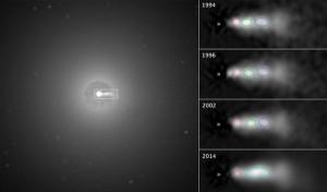 black holes jet knots beads plasma  radio galaxy 3C 264
