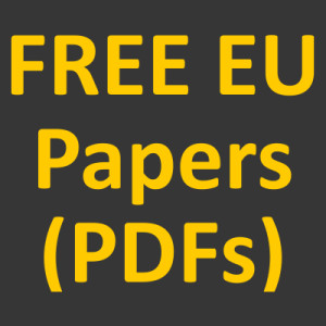 FREE EU related 'research' (PDFs)