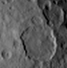 ceres craters central peak spire rebound impact