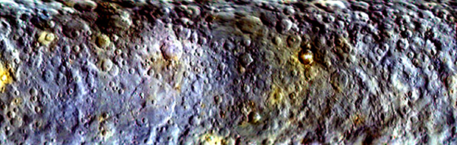 ceres craters rocky active asteroid dwarf planet surface