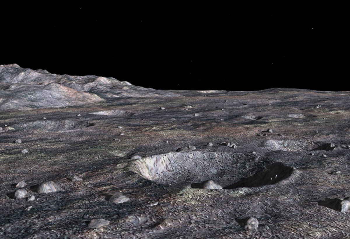ceres geomorphology surface origin