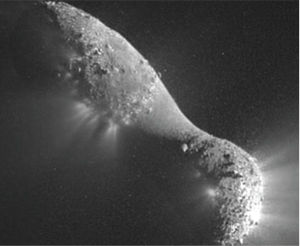 comet 103p hartley 2 regolith
