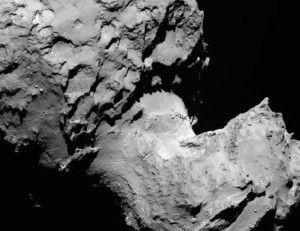 comet 67 p  neck fissure cracks no evidence