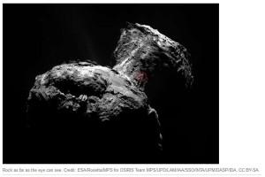 67P Churyumov-Gerasimenko rock rocky dusty organic material not ice water