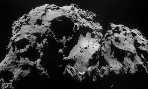 comet 67p asteroid craters surface