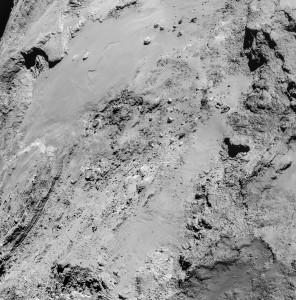 comet 67p cliffs