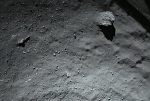 comet 67p dust dirt surface