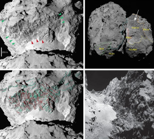 comet 67p geology lineated terrain