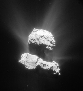 comet 67p jets multiple directions