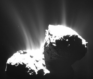 comet 67p jets puzzle missing origin cracks holes