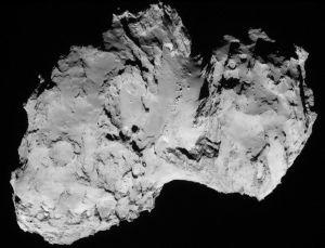 comet 67p regolith neck