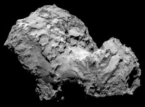 comet 67p rock not water ice