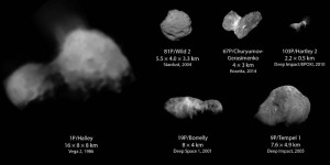 contact binary asteroids comets active objects list visited