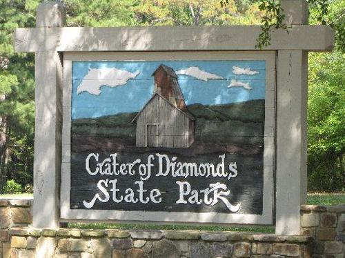diamond mine Arkansas USA why how