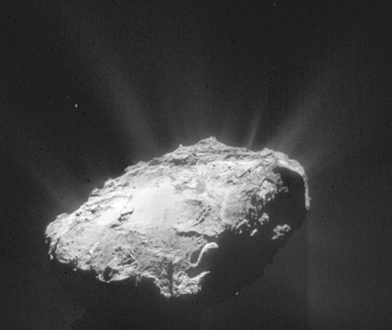 electric comet 67 p active asteroid