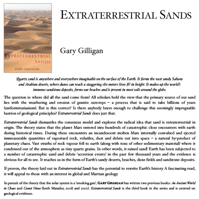 extraterrestrial sands book review gary gilligan