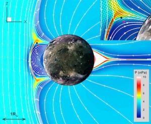 ganymede jupiter aurora polar south north connection io