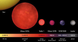 Brown dwarf stars are gas giant planets