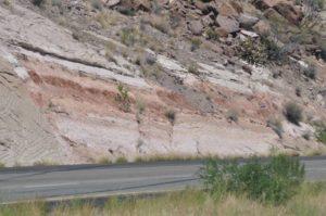 Road cutting at Kingman Arizona