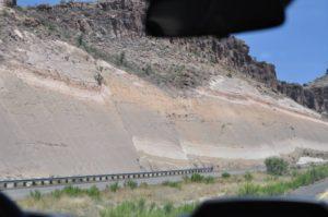 sidehill cut at Kingman Arizona