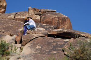 petroglyphs carvings rock rust
