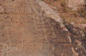 Electric Universe geology tour Red Rock Canyon petroglyphs stack of toroids