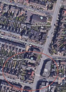 St Clement's Cross Gorleston location