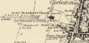 St Bennetts stone Cross Gorleston-On-Sea