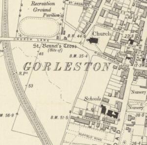 St Bennet's stone Cross, Gorleston