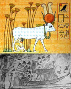 Hathor epithet title names cow god ancient egypt