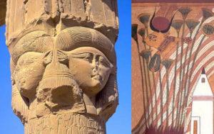 Hathors epithets titles names praise worship religion temples Dendera