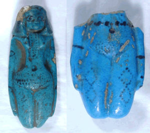 Goddess Hathor tattoo blue statues tattooed brides of the dead
