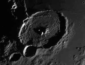 hexagonal cratering central peak