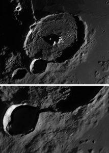 hexagonal crater formation origin theories