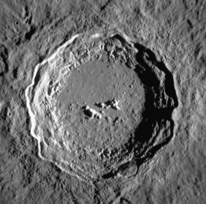 hexagonal craters irregular polygons space bodies