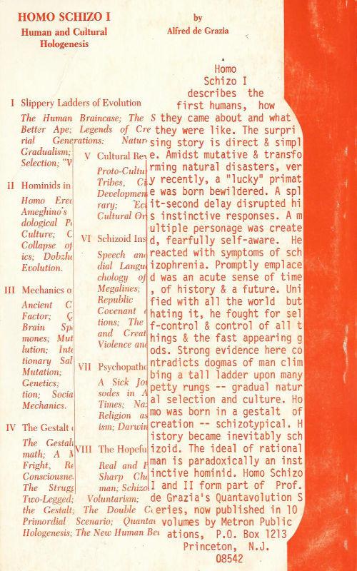 Homo Schizo 1 book review Alfred de Grazia Quantavolution free ebook pdf